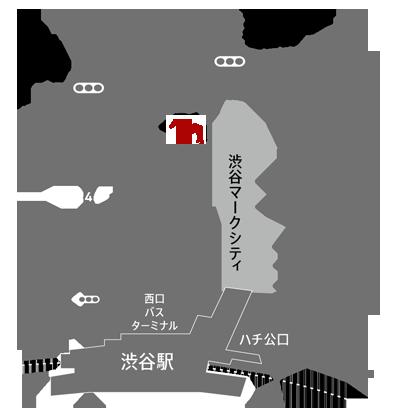 ロッキー馬力屋の地図